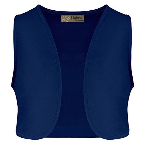 Womens Open Font Cropped Vest KV43890X COBALTBLU 3X