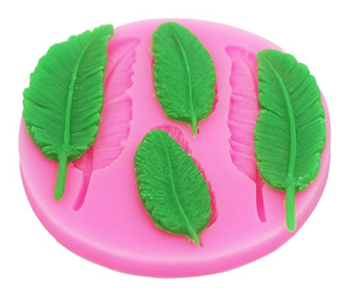 Longzang Feather Silicone Mold Sugar Craft DIY Gumpaste Cake Decorating Clay