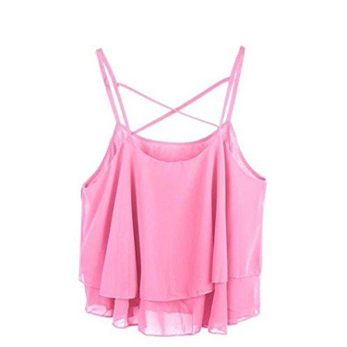 Mr.Macy Sexy Blouse, Fashion Women Irregular Summer Strap Floral Print Chiffon Shirt Camisole Vest (Free, - Macy's Women's Clothing Brands