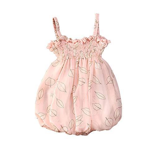 Bloemen Bubble Baby Meisjes, Zomer Mouwloos Off-Shoulder Slip Jurk Sling Geplooide Prinses Rok Zomer Kleding