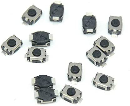 myshopx 10 Pezzi Microtaster Micro Interruttore a Pressione Micro Interruttore Mini Push Button Switch 4 X 3 X 2 mm Telecomando Chiave Pulsante Micro SMD MP08K-1