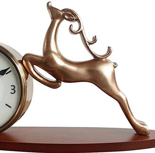 KUQIQI 時計、シンプル時計、サイレントホームリビングルームの時計、クリエイティブ装飾品、装飾時計、金属製時計、小、大 (Size : Small)
