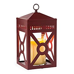 Candle Warmers Etc. Mission Candle Warmer Lantern, Brick Red