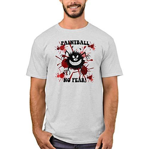 Zazzle Men's Basic T-Shirt, Funny No Fear Paintball T-Shirt, Ash (08 Mens Paintball T-shirt)