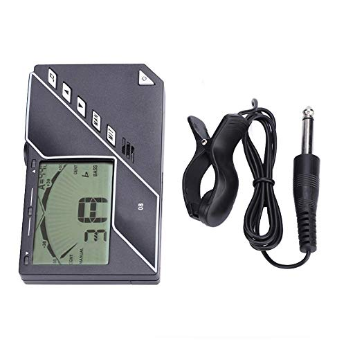 3 In 1 Tuner + Metronome + Tone Generator with Headphones Plug for Guitar Bass