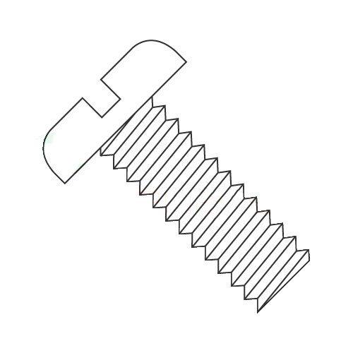 6-40 x 1/4'' Machine Screws/Slotted/Pan Head/Nylon/Natural (White) (Carton: 2,500 pcs)