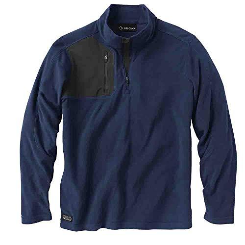 - Dri-Duck Men's Interval Quarter-Zip Fleece Navy X-Large