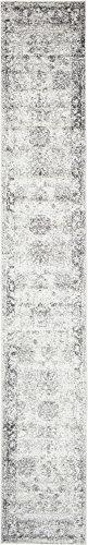 Unique Loom Sofia Collection Gray 2 x 13 Runner