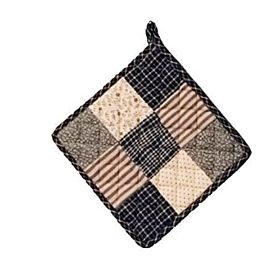 VHC Brands 7186 Kettle Grove Pot Holder Patchwork Blocks, 8  x 8