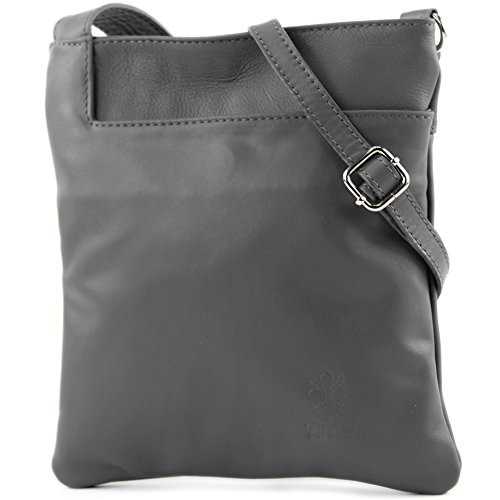 Fashionfashion Of - Made In Italy - Crossed Dark Gray Bag Woman