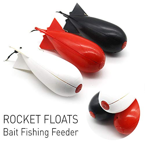 D-XinXin 2019 NewFishing Rig Rocket Fishing Floats and Bobbers Bait Fishing Feeder (Black)