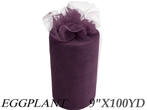 9 Inch X 100Yd Tulle Rolls - (Wine Art Party Plates)