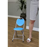 Frenchi Home Furnishing Kids Metal Folding Chair, Blue