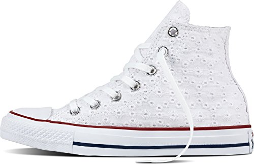 Converse 555978 Chuck Taylor All Star Unisex Sneaker (Cotton Eyelet/White)