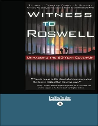 Book Witness To Roswell by Thomas J. Carey (2012-12-28)