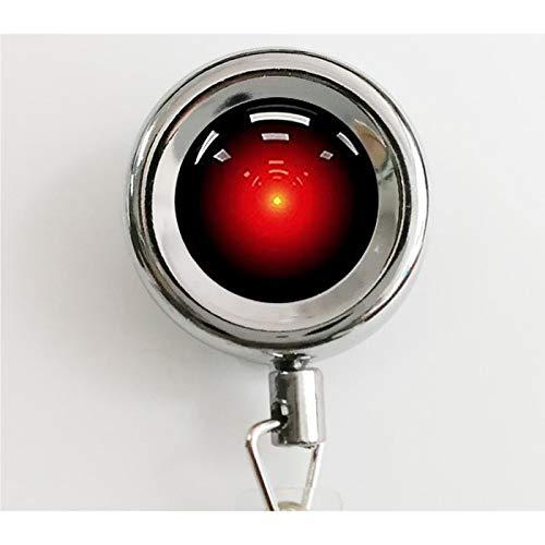 Reels Odyssey - Hal 9000 Space Odyssey Retractable Badge Reel with Waterproof ID Holders & Keychain