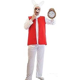 Alice In Wonderland-Fancy Dress-Panto THE WHITE RABBIT Unisex-All Adult Sizes