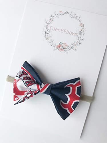 Boston RedSox Red Sox Soxs newborn baby girl toddler nylon headband bow Boston Red Sox Headband