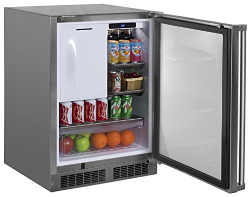 Marvel MO24RFS2RS Outdoor Refrigerator and Freezer, Solid Door with Door lock, Right Hinge, 24
