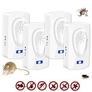 Nitoer Repellente ad Ultrasuoni per Topi,Ultrasuoni per Topi,Trappola per Topi elettrica,Antizanzare ultrasuoni,Anti… 3 spesavip