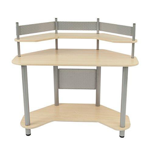 Calico Designs 55124 Study Corner Desk Silver With Maple