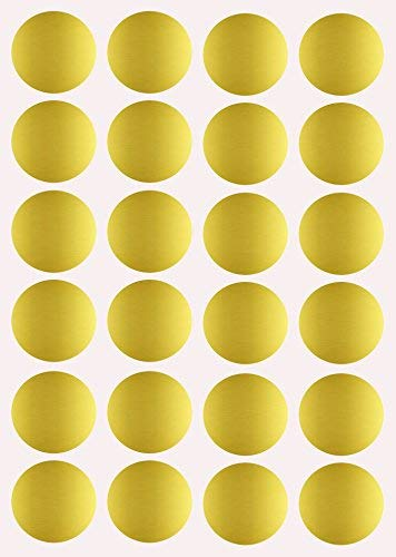 Gold Dot Stickers 1 inch Round Label dots 25mm - 120 Pack by Royal Green