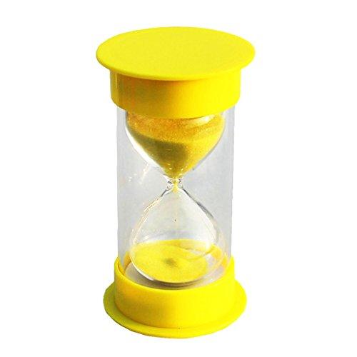 Sabliers Minutes Vintage Hourglass Minuterie Déco Table Jouet Enfant Jeu de Société Sable Couleur - Jaune, 30 Minutes