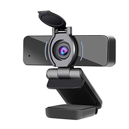 Dericam Webcam, HD 1080P Webcam with Microphone, USB Webcam, Play and Plug Streaming Webcam for PC Desktop & Laptop,for Video Calling Streaming, Conference, Gaming, Online Classes