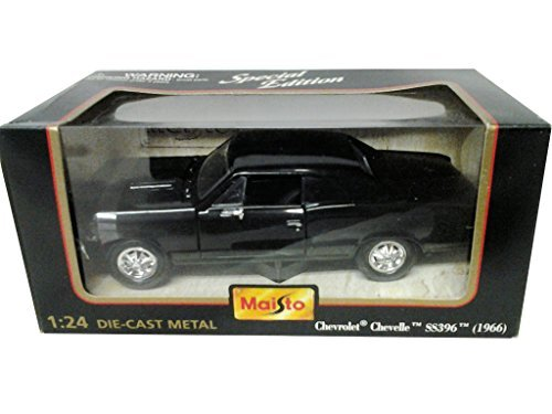 Maisto 1966 Chevrolet Chevelle SS 396 in Black - SPECIAL EDITION - Special Edition