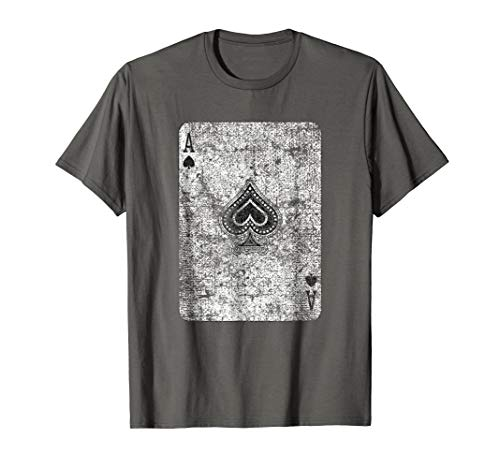 Ace of Spades Card T-Shirt Costume Halloween Playing Poker ()