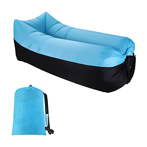 Sable Inflatable Lounger Air Sofa Hammock Couch Chair, Portable, Waterproof for Indoor and Outdoor with Carrying Bag for Traveling, Camping, Hiking, Park, Pool, and Beach Picnics by Sable