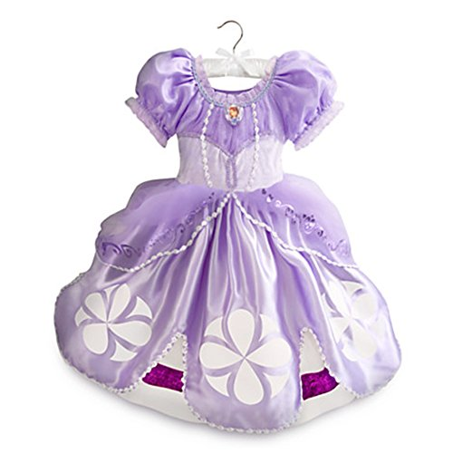 [Disney Store Deluxed Sofia the First Costume for Girls Purple (5/6)] (Sofia The First Dress Up Costume)