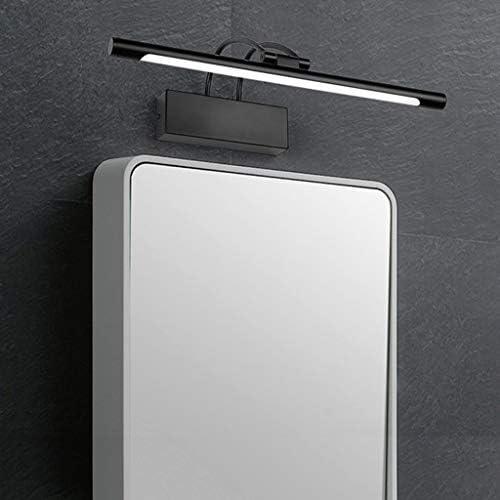 Bath Mirror Lamps, Led Mirror Front Light Nordic Toilet Bathroom Simple Black Acrylic Adjustable Mirror Cabinet Lights,Bathroom Lighting (Color : Warm Light)