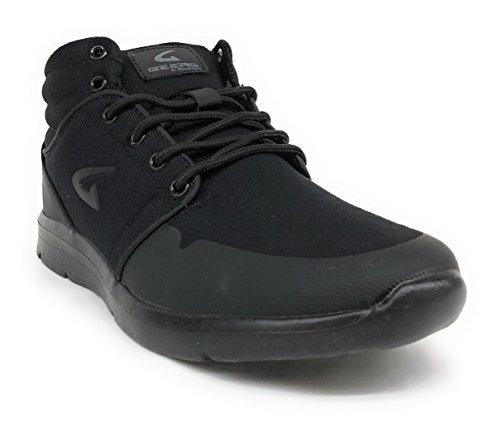 Geers Mens 1683H Hightop Mens Skater Running Athletic Shoes All Black viwA3T