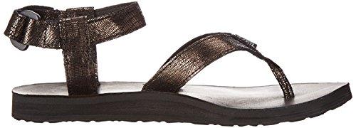 Teva Damen Original Metallic Sandale Schwarz