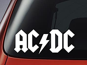 Vinyl Decal AC DC Logo Car Window Wall Laptop Sticker - Car window stickers amazon uk