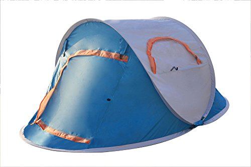 Price comparison product image Large 1-4 Person Instant Automatic Pop Up Tents Waterproof for Shelter Outdoor Sports Camping Hiking Travel Beach with Zippered Door and Carrying Bag