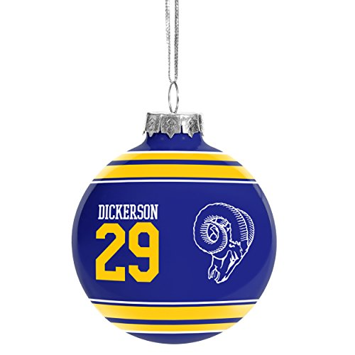 NFL Retired Players Christmas Glass Ball