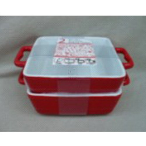 "Home Essentials Mini Set OF 2 6.5"" Red Baker"