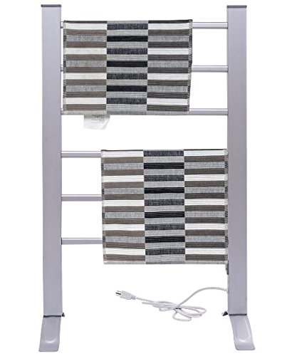 K&A Company Electric Towel Wall Warmer Rack Mounted Drying Freestanding Heated Bar Bathroom Mount Rail