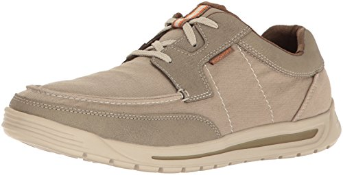 Rockport Men's Randle Moc Toe Oxford- Sand-10.5 M (Rockport Moc Toe)