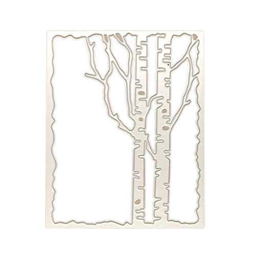 puhoon Cutting Dies, Branch Frame Metal Stencil, DIY Scrapbooking Album Stamp Paper Card, Embossing Crafts Decor for -