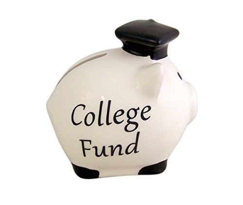 College Fund Graduation Ceramic Piggy Bank, 3 Inch