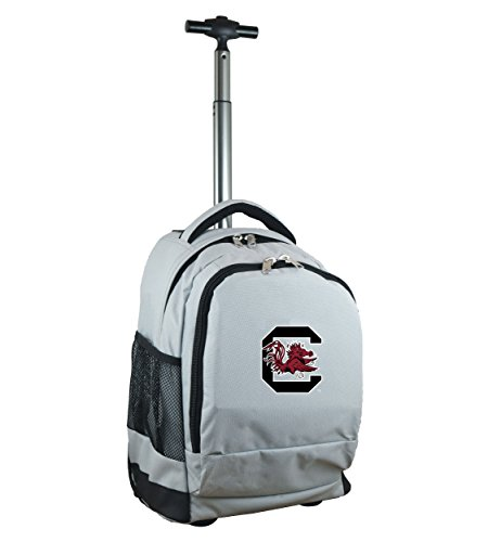 Denco NCAA South Carolina Fighting Gamecocks Expedition Wheeled Backpack, 19-inches, Grey