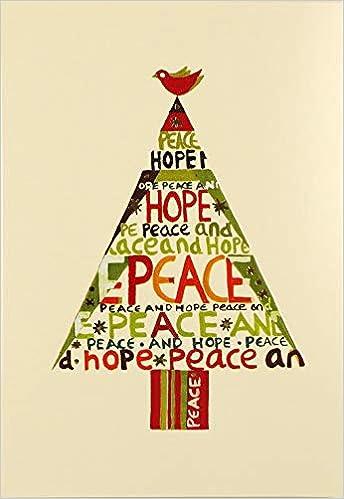 Peace Hope Tree Small Boxed Holiday Cards Christmas Cards Holiday Cards Greeting Cards Inc Peter Pauper Press 9781441304759 Amazon Com Books