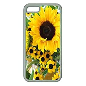 Iphone 5c Case,Rubber Iphone 5c Protective Case for Ultimate Protect iphone 5c with sunflower