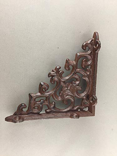 BI03DT210-S_6 - Antique Brown/Black Cast Iron Shelf Bracket (6pcs)