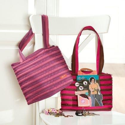 zip..it Tasche Cabana mit Münztäschchen schwarz/pink