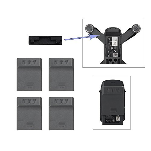 BonFook Battery Charging Port Cover Set and Body Terminal Protector Guard Durable for Dji Spark by (Battery Cover Set)