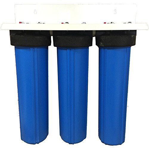 Image of 3 Stage 20' Big Blue Whole House Activated Alumina Filter w/ Radial Flow Carbon - Removes Arsenic +5 AND +3, Fluoride, Sediment, Chlorine, & Chloramines Big blue Under-Sink & Countertop Filtration
